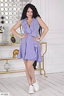 Коротке літнє плаття жіноче на запах з спідницею кльош великі розміри батал 48-58 арт. 347