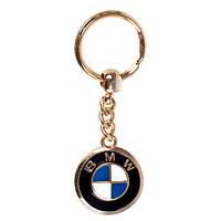 Брелок металевий кольоровий на ланцюжку BMW GOLD (метал цветн.)