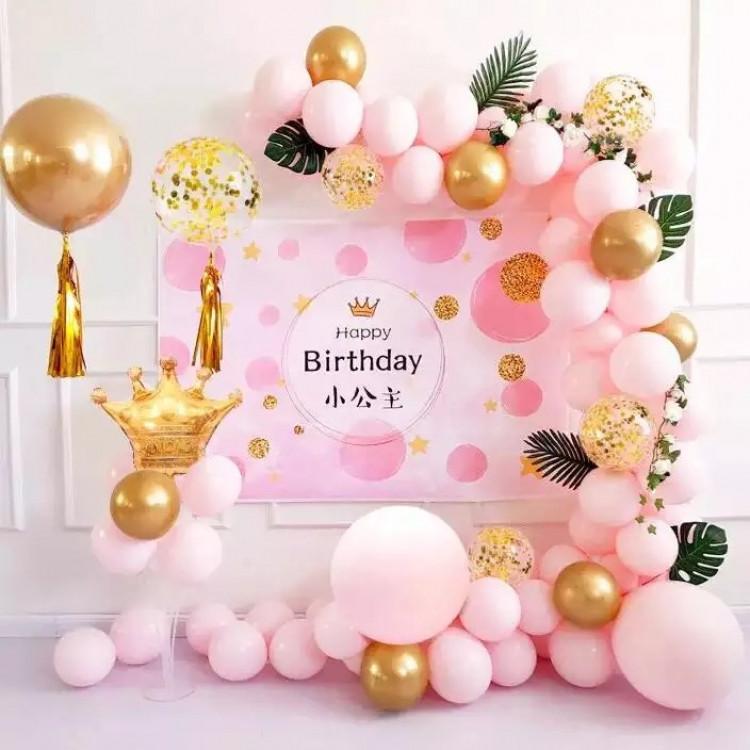 Набор воздушных шаров для фото на день рождения Pink
