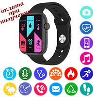 Розумні Smart Watch смарт фітнес браслет годинник трекер на РУССОКОМ в стилі Apple Watch Series 6 (FK88), фото 1