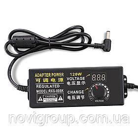 Адаптер живлення NZX-31250 з регулюванням 3-12V 5A, штекер 5,5 * 2,5, LED - індикація