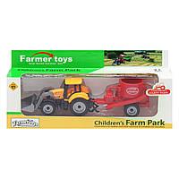 """Трактор """"Farm Park"""", помаранчевий FC17-8"""