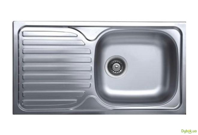 Мийка 7642, врізна 760х420х180 Декор 0,8 см (без отвору під змішувач)