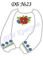 Заготовка блузы детская под вышивку
