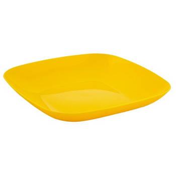 Тарілка 250*250*30 (темно-жовтий) (167063) (10)