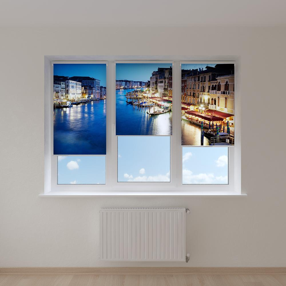 Рулонні штори з зображенням міста