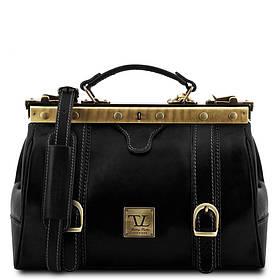 Кожаная сумка-саквояж Tuscany Leather MONA-LISA TL10034 (Black – черный)