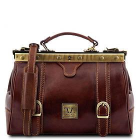 Кожаная сумка-саквояж Tuscany Leather MONA-LISA TL10034 (Brown - коричневый)