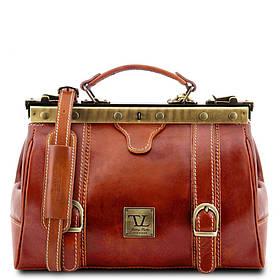 Кожаная сумка-саквояж Tuscany Leather MONA-LISA TL10034 (Honey – медовый)