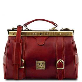 Кожаная сумка-саквояж Tuscany Leather MONA-LISA TL10034 (Red – красный)