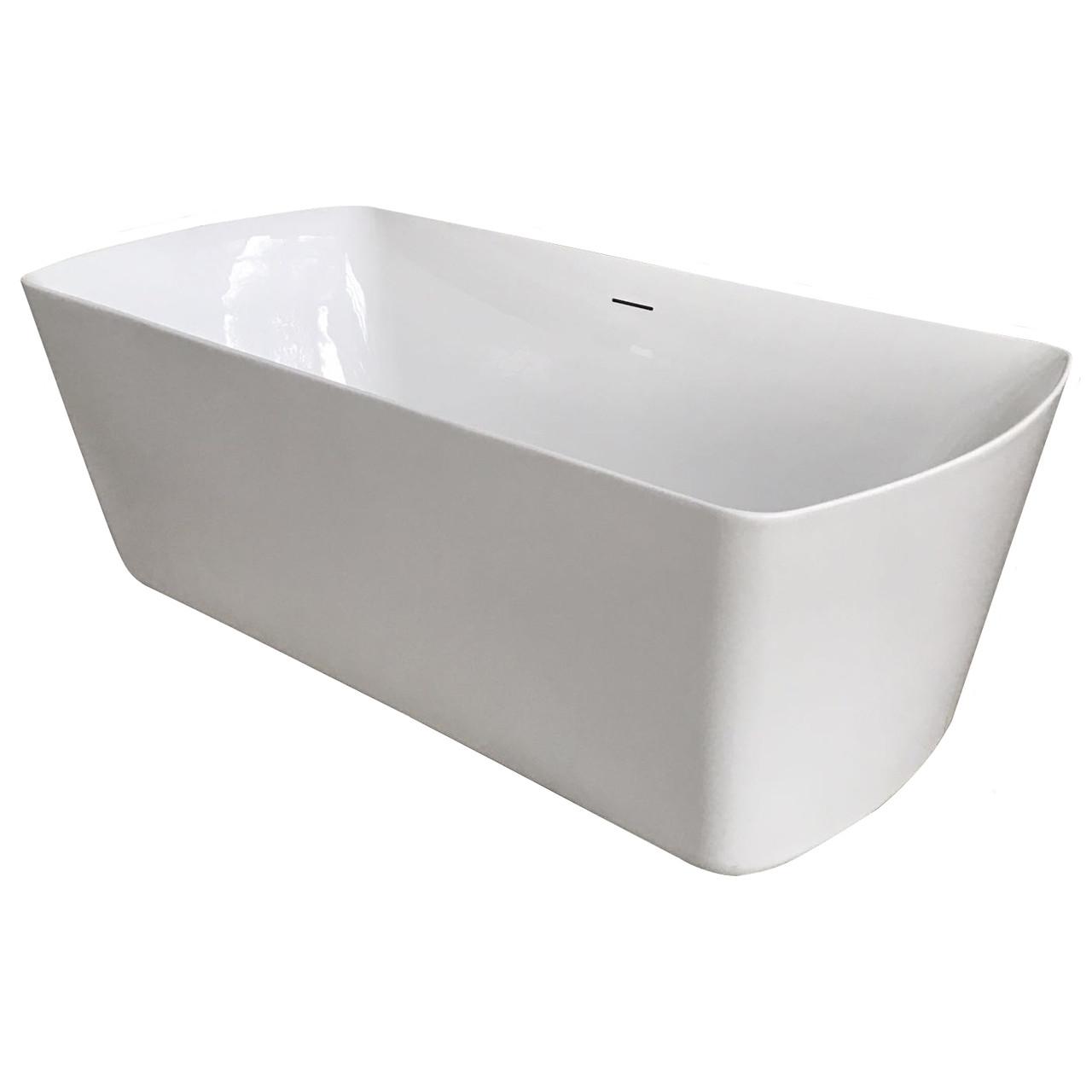 Ванна 180*85*61см, окремостояча, з сифоном