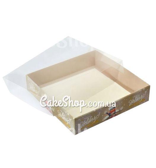 Коробка для пряников с прозрачной крышкой Воробушек, 16х16х3,5 см