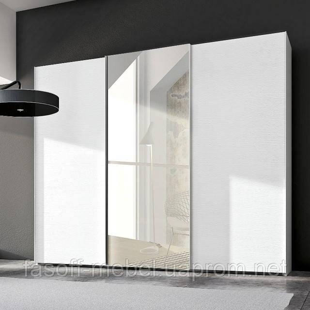 Шкафы-купе 3-х дверные зеркало-пескоструй