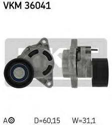 Натягувач ручейкового ременя на Renault Trafic 2003-> 2.5 dCi — SKF (Швеція) - VKM 36041
