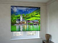 Рулонні штори з фотодруком готель в Альпах