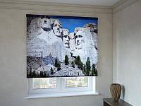 Рулонні штори з фотодруком президенти на горі Рашмор