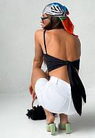 Женский топ с завязкой на спине