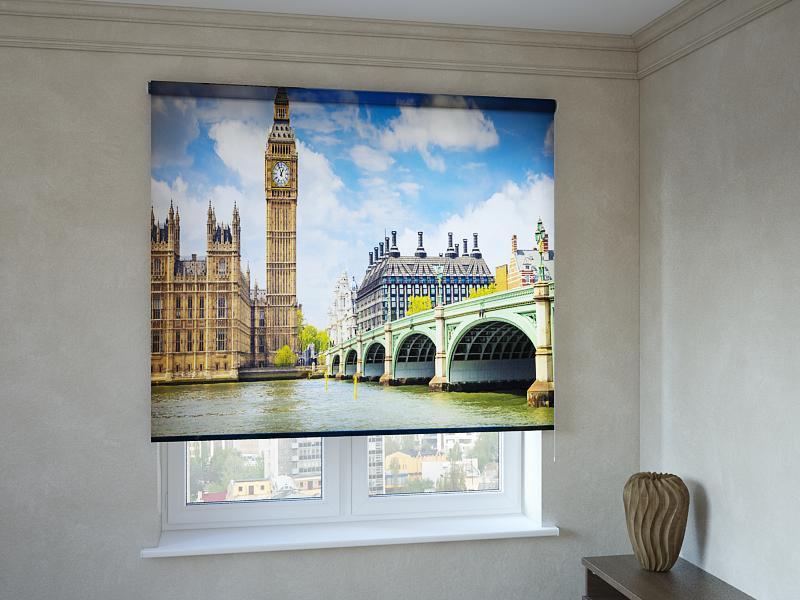 Рулонные шторы с фотопечатью Вестминстерский мост