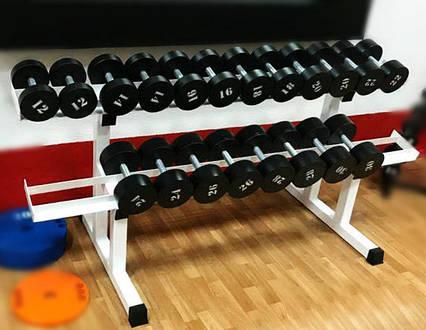 Гантельный ряд от 12 до 30 кг. Общий вес 420 кг, фото 2