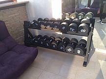 Гантельный ряд от 12 до 30 кг. Общий вес 420 кг, фото 3