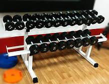Гантельний ряд від 12 до 32 кг Загальна вага 484 кг, фото 2