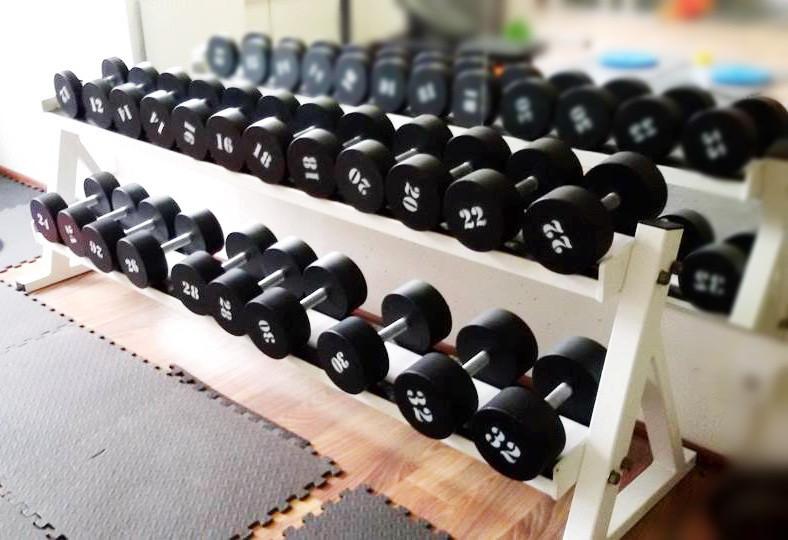 Гантельний ряд від 12 до 32 кг Загальна вага 484 кг