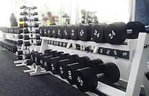Гантельний ряд від 12 до 32 кг Загальна вага 484 кг, фото 3