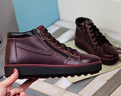 VM-Villomi Зимние бордовые ботинки на молнии, фото 2
