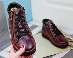 VM-Villomi Зимние бордовые ботинки на молнии, фото 3