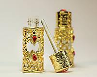 Металлический флакон ручной работы для духов, масел Императрица  (Золото) №5, фото 1