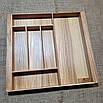 Лоток для столовых приборов  L440-530.400 ясень, фото 3