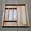 Лоток для столовых приборов  L440-530.400 ясень, фото 4