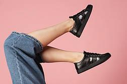 VM-Villomi Кожаные женские кеды черного цвета, фото 3