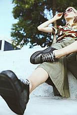 VM-Villomi Кеди з натуральної шкіри в комбінації чорного і сріблястого кольорів, фото 3