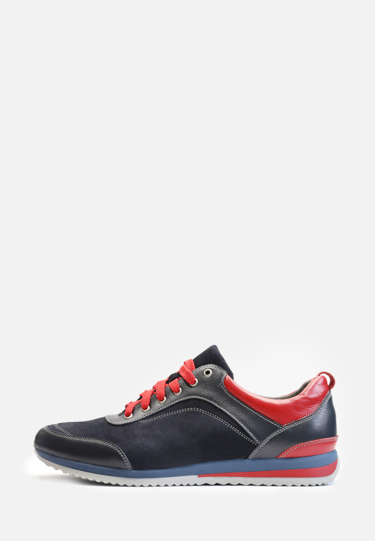 VM-Villomi Мужские яркие кроссовки из натуральной кожи и замши