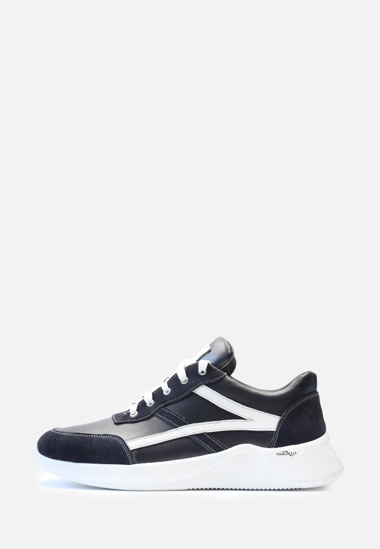 VM-Villomi Кожаные кроссовки синего цвета с белыми вставками