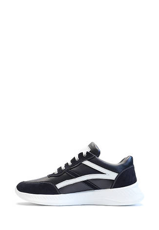 VM-Villomi Кожаные кроссовки синего цвета с белыми вставками, фото 2
