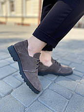 VM-Villomi Жіночі замшеві туфлі коричневого кольору, фото 3