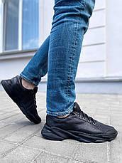 VM-Villomi Черные кожаные мужские кроссовки с перфорацией, фото 2