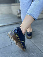 VM-Villomi Синие лаковые туфли дерби, фото 3