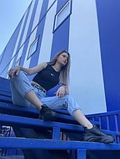 VM-Villomi Стильні шкіряні чорні кросівки на високій платформі, фото 3