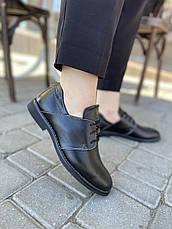 VM-Villomi Черные классические кожаные туфли на низком ходу, фото 3