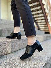 VM-Villomi Закрытые туфли черного цвета на небольшом каблуке, фото 3