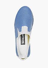 VM-Villomi Синие кожаные перфорированные мокасины, фото 2