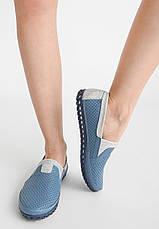 VM-Villomi Синие кожаные перфорированные мокасины, фото 3