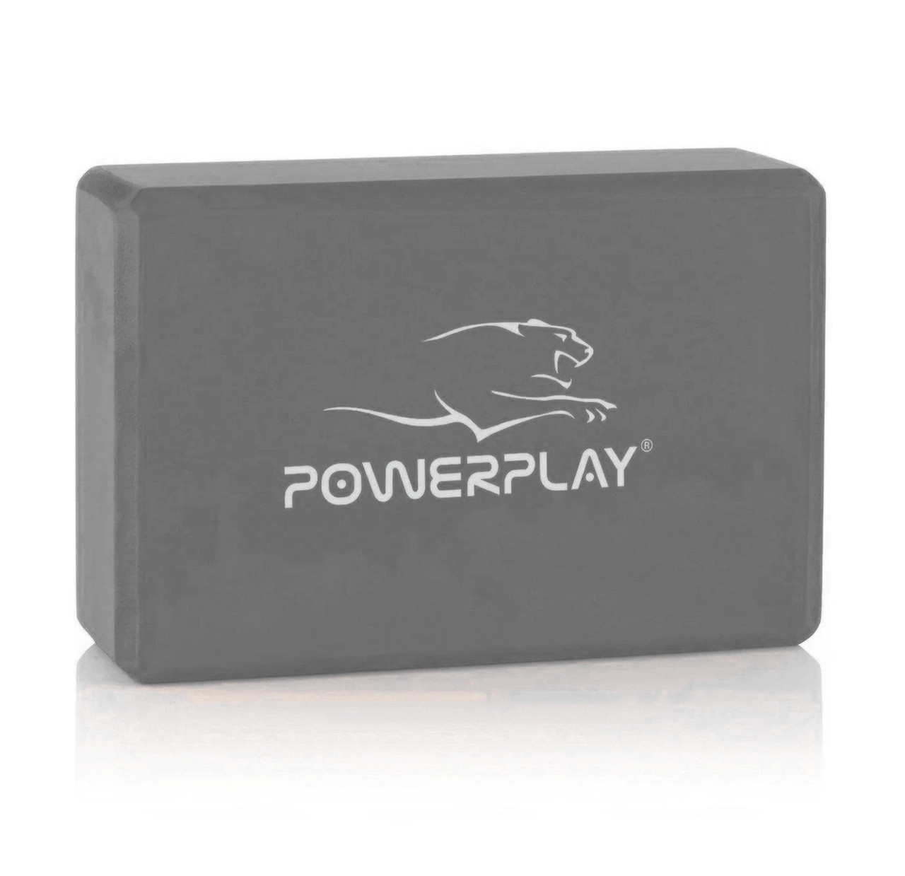 Блок для йоги PowerPlay 4006 Yoga Brick Серый