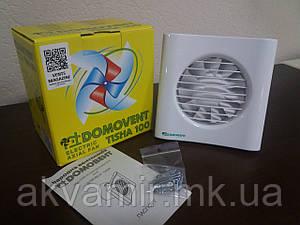 Бытовой вентилятор Домовент Тиша 100 для вытяжной вентиляции