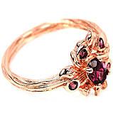 Серебряное кольцо с гранатом родолит, 1774КГ, фото 3