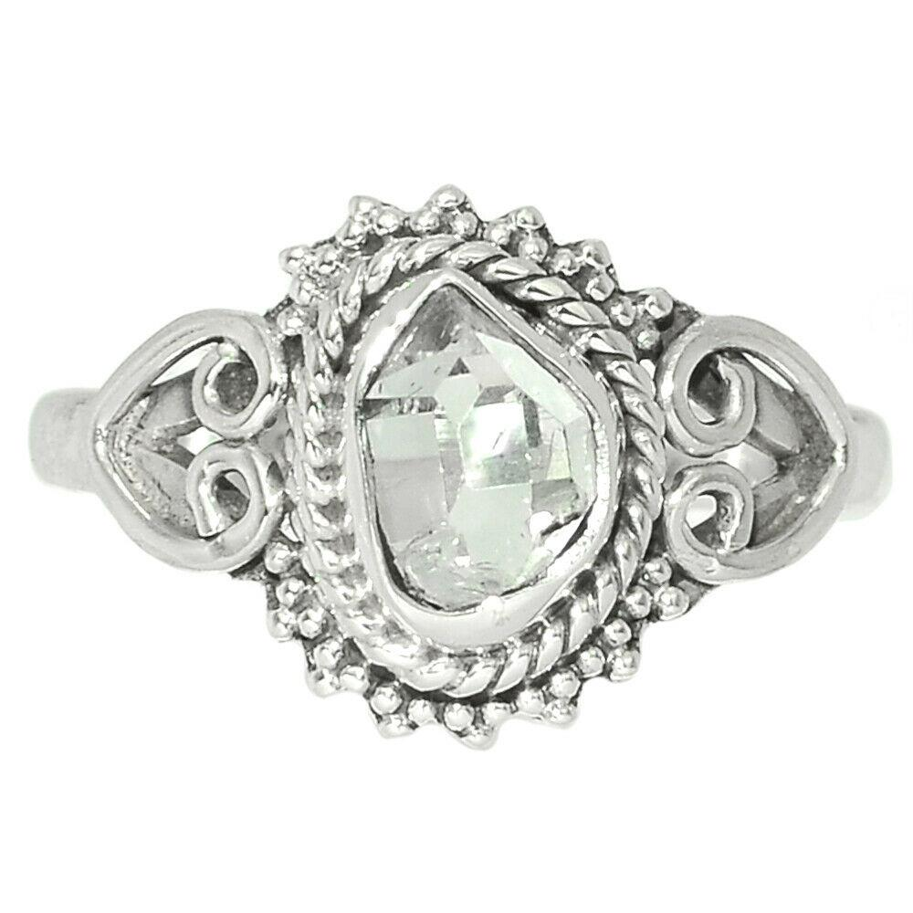 Херкимерский (Херкаймерийский) алмаз серебряное кольцо, 1776КХ