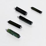 Колекційний мінерал зелений турмалін Верделит, комплект 5 шт., 833ФГВ, фото 2